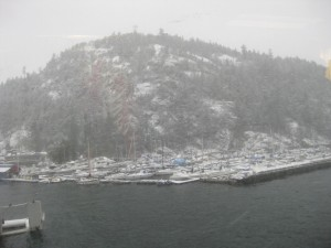 Snow in Horseshoe Bay
