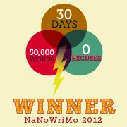 NaNoWriMo Winner 2012