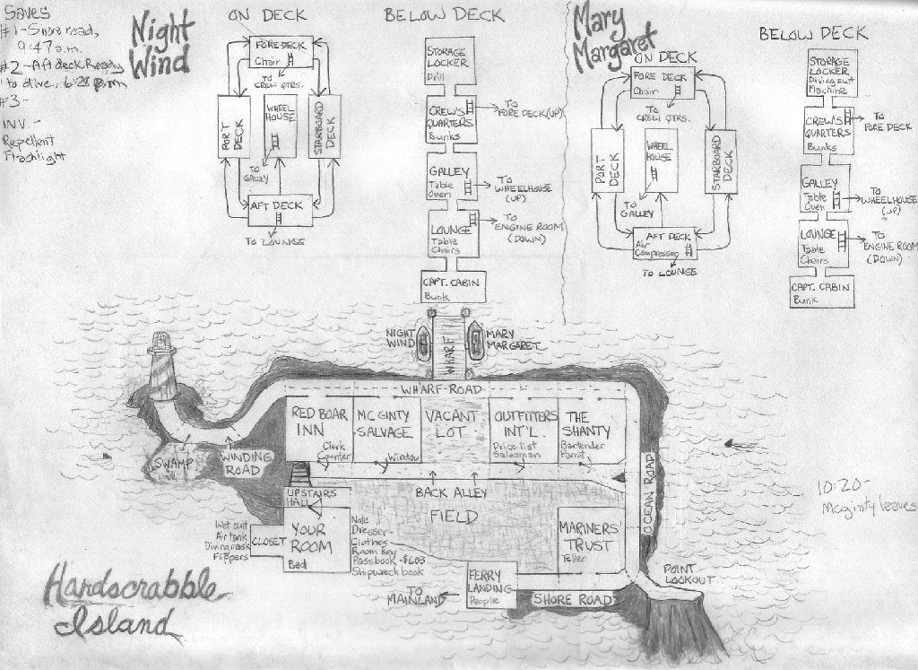 Zork Map on