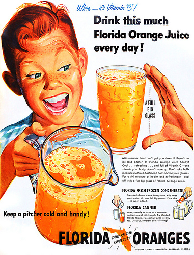 Orange juice creepy