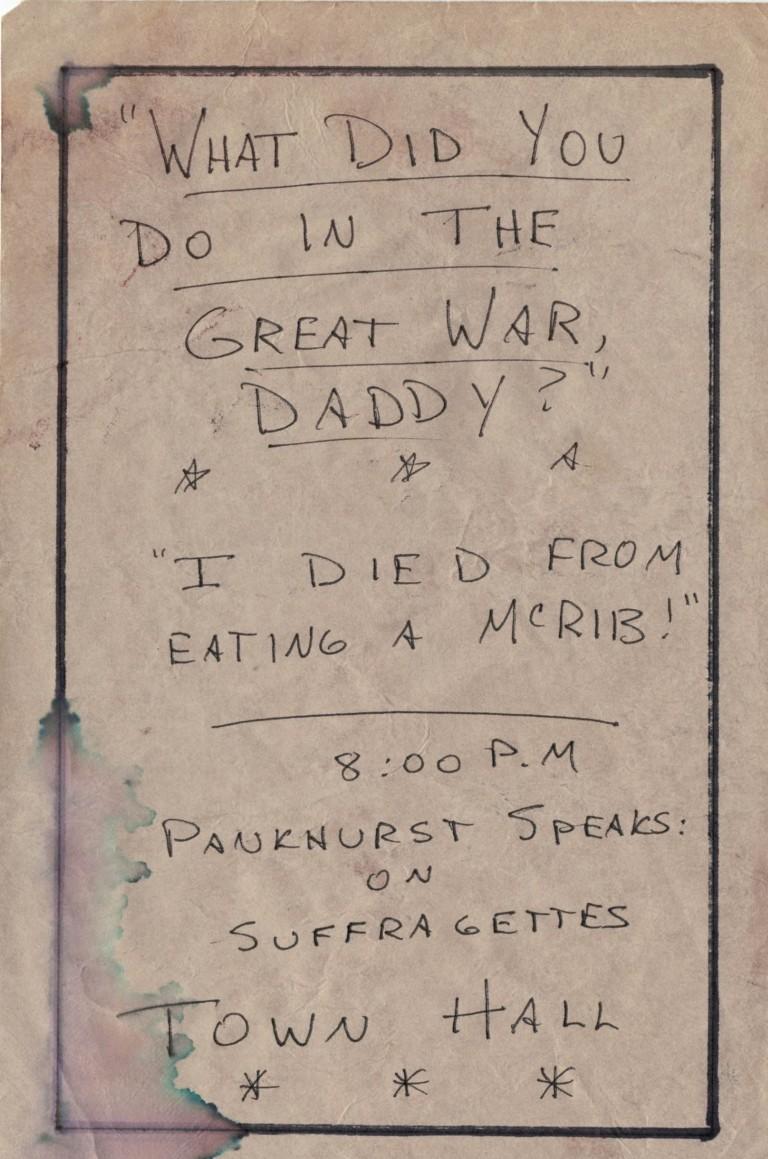 Great War McRib pamphlet