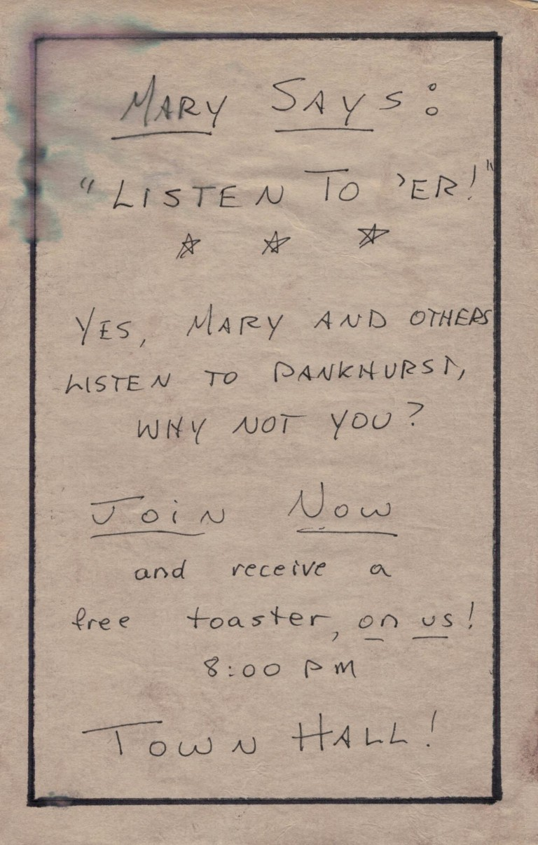 Great War toaster pamphlet