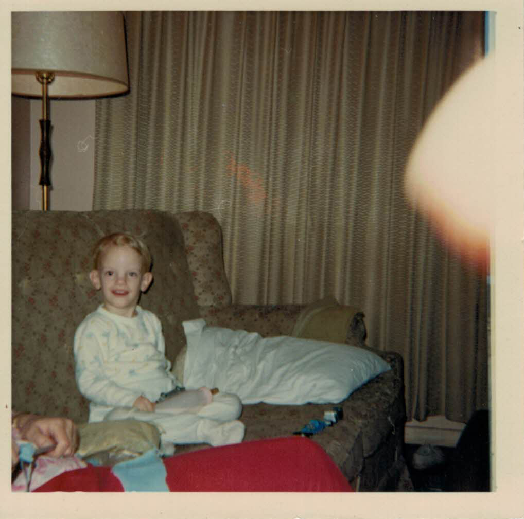 Me chilling on the couch, 1967