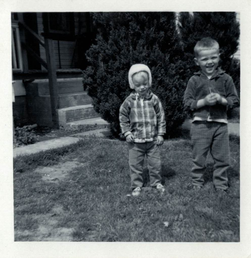 Me  with my brother Rick, 1967