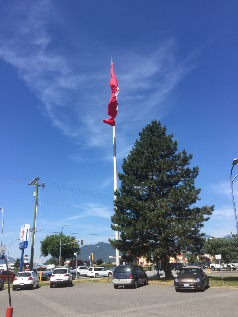 A giant Canadian flag for the 4th of July